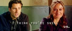 Shawn and Jules - one of my favorite Shules moments. Hahaha, swell. Me and my mom say that. lol