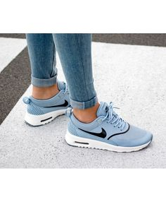 the best attitude f7acc d185c Nike Air Max Thea Blue Black White Trainers