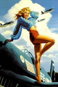 Pin up Girl WW2 - designed to give the men some 'motivation' #pinup #vintage #retro