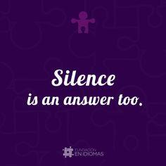 El silencio también es una respuesta.   #Deutsch #German #alemán #quoteoftheday #photooftheday  #igersvenezuela #english #esl #spanish #español #inglés #ele #languages  #translations # #idiomas   #languagesonline  #Caracas #Valencia #Maracaibo #PuertoOrdaz