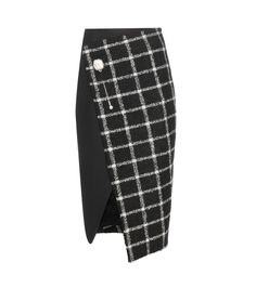 Balenciaga - Check wool blend wrap skirt - Alexander Wang combines traditional chic with modern style this season at Balenciaga. Cut from a divine wool-blend tartan, we love this piece for its overlap front. The kilt-inspired skirt is finished with an ornate crystal and stone-adorned pin for a dose of elegance. Pair with a low heel for ladylike elegance. seen @ www.mytheresa.com