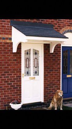 New Front Door Porch Canopy Bespoke Ideas Front Door Overhang, Front Door Porch, Porch Roof, Diy Porch, House Front, Front Doors, Over Door Canopy, Window Canopy, Door Canopy Porch