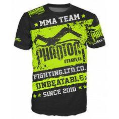 "Phantom MMA Shirt ""EVO - Walkout"" - Black/Neon"