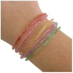 Jelly bracelets--pile 'em on! Jelly Bracelets, Glitter Jelly, 90s Girl, Ring Watch, Kids Growing Up, Arm Party, Ol Days, My Childhood Memories, The Good Old Days