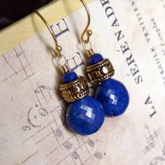 Lapis Lazuli earrings:  nice!