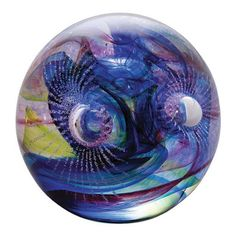 Caithness Glass Space Star Burst Paperweight. Perfect for lovers of all things space, this Space Star Burst glass paperweight represents a colourful galatic collision!