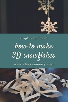 How to make snowflakes out of paper. How to make snowflakes out of paper. Diy And Crafts, Crafts For Kids, Paper Crafts, Blue Crafts, 3d Paper, Clever Diy, Easy Diy, Fun Diy, Diy Valentine's Pillows