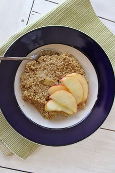 Food L'amor: Cinnamon Apple Crockpot Quinoa. Paleo, gluten free, quick and easy meal.