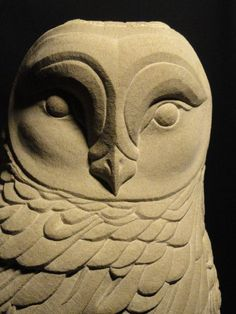 York stone Carved Stone, Marble, Alabaster, Soap Stone sculpture by artist Joseph Hayton titled: 'Barn owl Hand carved York stone' #sculpture #art