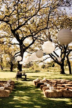 Country bruiloft |Decoración campestre.