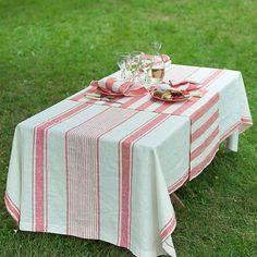LinenMe 132 x 140 cm tovaglia in lino Tuscany, rosso