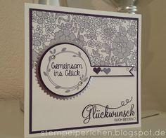 Stempelperlchen                                                                           : Hochzeitskarte mit Spitze