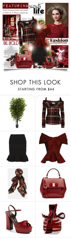 """""""One of the secrets of life is making stepping stones out of stumbling blocks..."""" by mrstom ❤ liked on Polyvore featuring Nearly Natural, Ethan Allen, Faith Connexion, Alexander McQueen, Emilio De La Morena, Lafayette 148 New York, Salvatore Ferragamo, Gucci, Nina Ricci and Versace"""