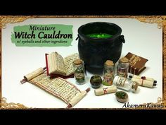 Miniature Cauldron & Potions Tutorial (Creating Dollhouse Miniatures)