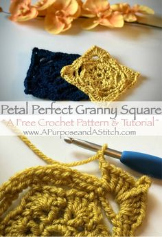 Petal Perfect Granny Square- Free pattern and tutorial by A Purpose and A Stitch