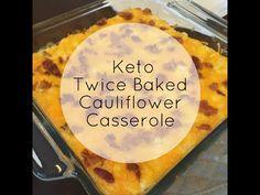 Keto Twice Baked Cauliflower Casserole - KetoKarma