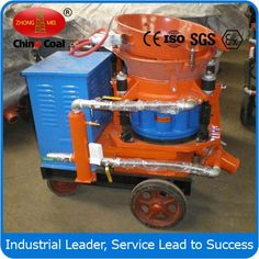 chinacoal03 PC5T Wet Spraying Machine Wet Spraying Machine  , Wet  Shotcrete Machine   , shotcrete machine    Product Introduction PC5T wet spraying machine is mainly used in iron (public) road tunnel project. Equipment is easy to operate, low dust, low rebound, protect the environment and improve the quality of shotcrete, a special vibration hopper can successfully enter the concrete batching system.