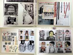 Graphic sketchbook pages-London Art Portfolio Blog