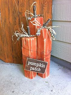 Pumpkin patch wood block decor  :D