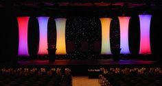 Hoop Column Shapes at Rosebrand http://www.rosebrand.com/fabric-stage-curtains-backdrops/portfolio-detail.aspx?id=46