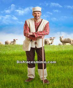Tu mejor disfraz de pastor pasiego para adulto talla m/l.eberás practicar la llamada de las ovejas. Agarra tu vara y llama tu perro Pachón para ser unos de los personajes en Nacimientos Vivientes.Este disfraz es ideal para tus fiestas temáticas de disfraces de navidad para hombre adulto