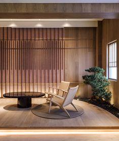 Japanese Spa, Japanese House, Japanese Design, Japanese Restaurant Design, Japanese Style, Modern Japanese Interior, Modern Interior Design, Interior Architecture, Lounge Design