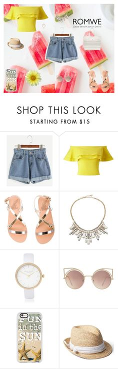 """""""A SUNNY DAY!"""" by sapirfiruz ❤ liked on Polyvore featuring Miss Selfridge, Ancient Greek Sandals, ABS by Allen Schwartz, River Island, MANGO, Casetify and Gap"""
