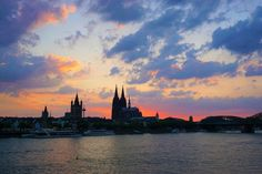 The Cologne Experience - Backpack Globetrotter Cologne, Dusk, The Past, Backpack, Germany, Clouds, Sunset, Travel, Outdoor