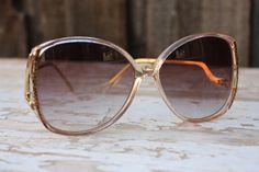 Vintage 1980's Oversized  Drop Arm Sunglasses by pursuingandie, $28.00