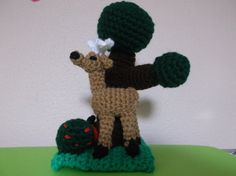 Crochet Forest Scenery with Amigurumi Animals and by SalemsShop, $17.00