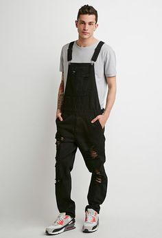 Clean Wash Distressed Overalls | #Forever21 #Overalls #Menswear