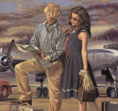 Peregrine Heathcote Art Deco Posters, Vintage Posters, Vintage Art, Art Deco Illustration, Florence Academy Of Art, Art Deco Artists, Portraits, Aviation Art, Pulp Art