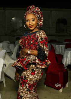 Ankara Blouse, Peplum Blouse, Different Necklines, African Tops, Neckline Designs, Ankara Styles, Blouse Styles, Stylish, Skirts