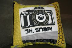 A Quarter Inch from the Edge - screen printed & quilted pillow