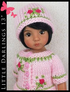 "Pink Roses Summer Outfit Little Darlings Effner 13"" by Maggie  Kate Create"