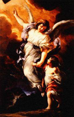 Heiliger Schutzengel Pietro Da Cortona Guardian Angel Enhanced Remastered
