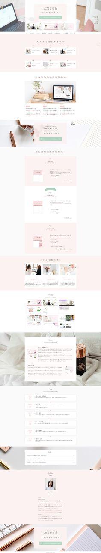 WEB DESIGN La pureté アメブロカスタマイズメニューのLP Web Design, Design Web, Website Designs, Site Design