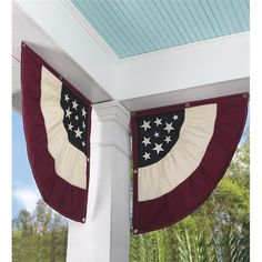 Catalog Spree - Plow Set Of 2 Americana Embroidered Cotton Duck Half-Buntings Flags - Plow & Hearth Fourth Of July Decor, 4th Of July Decorations, July 4th, Holiday Decorations, Americana Decorations, Holiday Ideas, Americana Crafts, Holiday Fun, Patriotic Bunting