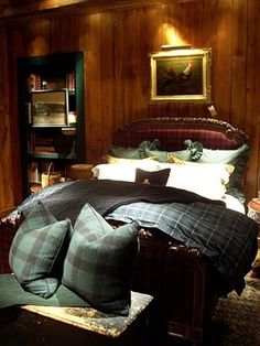 ralph lauren tartan plaid bedding | Found on homedecoratorsollection.blogspot.com