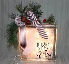 how to make glass block christmas decoration - Google Search