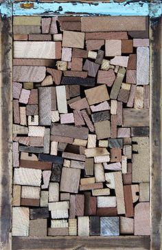 """Love the texture! - David Cass; Wood, 2011, Assemblage / Collage """"So Many Endings I"""""""