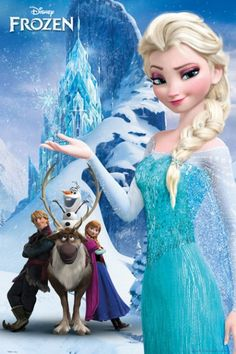 Frozen Kraina Lodu Góra - plakat