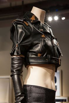 A leather look from Jean Paul Gaultier