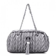 JSR Ladies Chain Handbag Shoulder Bag - Silver  $32.00