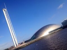 #Glasgow's Science Centre & Tower. #NoFilter #BlueSky
