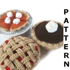 Bake a Pie Play Food Crochet Pattern  by CrochetNPlayDesigns, $5.00