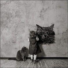 little-girl-and-the-cat13.jpg (680×680)