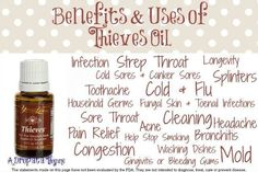 The Thieves formula is available in the oil blend, household cleaner, toothpaste, mouthwash, bar soap, wipes, dental floss, spray, hand sanitizer, and others.  A drop a day kept me completely well for a year and a half, with only one cold since June 2012!  Put it on your kids' feet at night to prevent picking up illness at school.