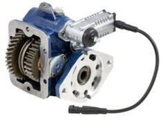 """Muncie ALPHA Series PTO Muncie Power Products' new """"Alpha"""" Series PTO uses proven internal components from the TG Series, in a compact housing. The integral shift mechanism provides proper clearance on Dodge Ram 4 x 4 chassis with manual transmissions. Power Take Off, Manual Transmission, Dodge, Tractors, Outdoor Power Equipment, Compact, Surface, Products, Garden Tools"""