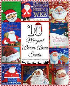 Keep the magic of Santa Claus alive for your kids this Christmas with these 10 books! 10 Magical Books About Santa Santa's Christmas Handbook - Before you even open this fantastic book, your im.